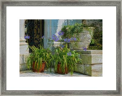 Porch Planters Framed Print by Robin-Lee Vieira