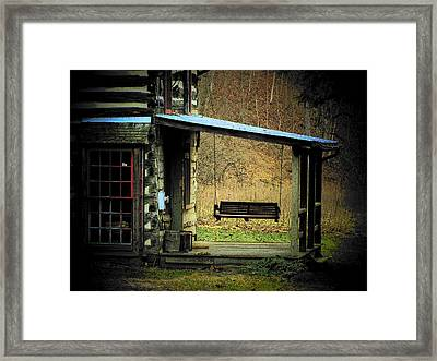 Porch Swing Framed Print by Michael L Kimble