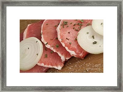 Pork Chops Framed Print by Blink Images