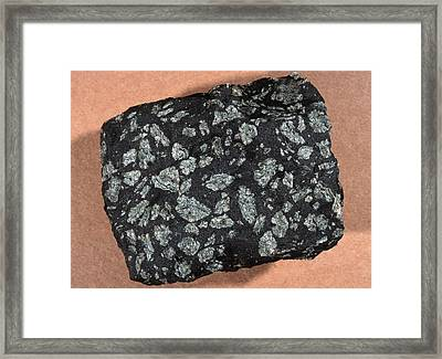Porphyritic Texture In An Igneous Rock Framed Print