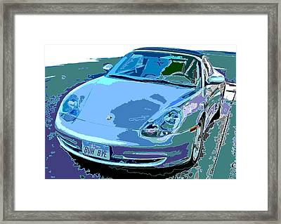 Porsche Carrera Front Angle Study Framed Print by Samuel Sheats