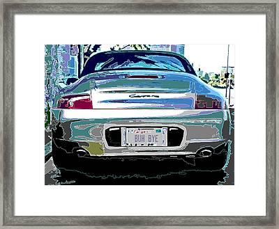 Porsche Carrera Rear Study Framed Print