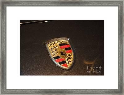 Porsche Emblem Framed Print by Micah May
