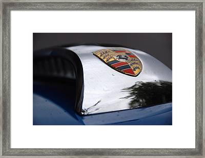 Framed Print featuring the photograph Porsche Super 90 Marque by John Schneider