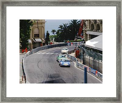 Porsches At Monte Carlo Casino Square Framed Print by John Bowers