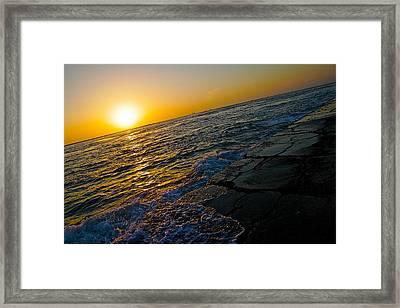 Port Aransas Sunrise Framed Print by Snow  White