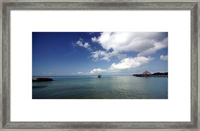 Port-lanscape Framed Print by Arik S Mintorogo