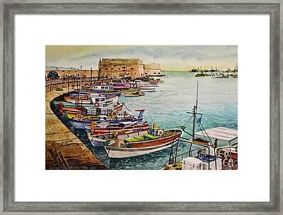 Port Of Heraklion Framed Print