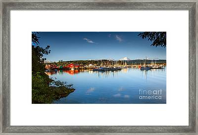 Port Of Ilwaco Framed Print by Robert Bales