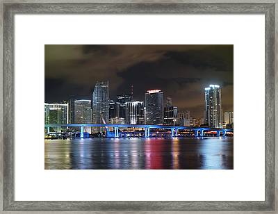 Port Of Miami Downtown Framed Print