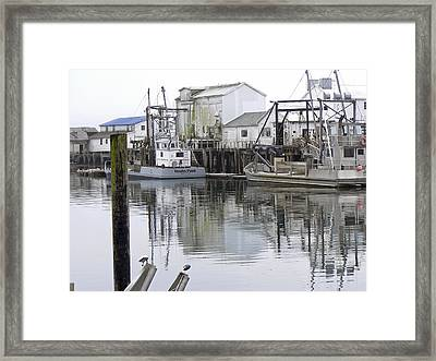 Port Of Nahcotta Framed Print by Pamela Patch