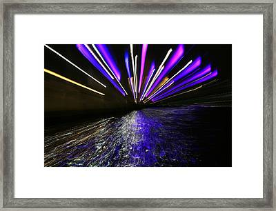 Port Slide Lightz Framed Print