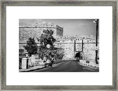 Porta Di Limisso Old Land Limassol Gate In The Old City Walls Famagusta Framed Print by Joe Fox