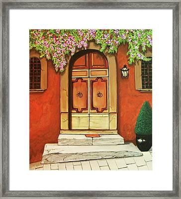 Porta D'ingresso Framed Print