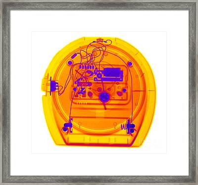 Portable Clock Framed Print by Ted Kinsman