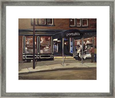 Portall's At Night Framed Print by Edward Williams