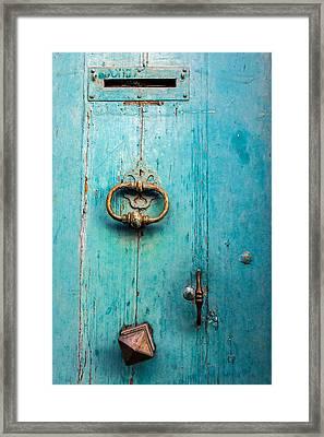 Porte Blue Framed Print by Elly Schuurman