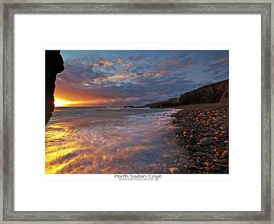 Framed Print featuring the photograph Porth Swtan Cove by Beverly Cash