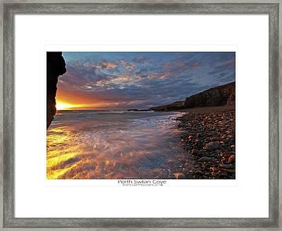 Porth Swtan Cove Framed Print