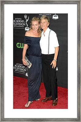 Portia De Rossi Wearing A Monique Framed Print