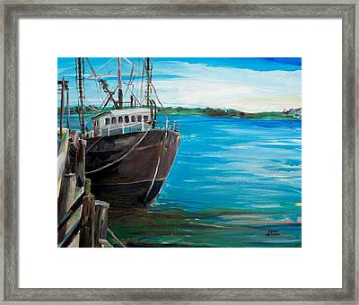 Portland Harbor - Home Again Framed Print