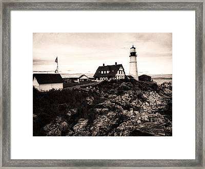 Framed Print featuring the photograph Portland Head by Kelly Reber