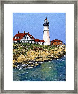 Portland Head Light House Framed Print by Randy Sprout