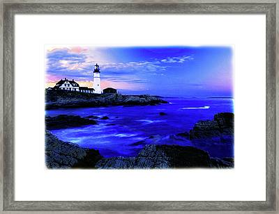 Portland Head Lighthouse Framed Print by Fred Kirchhoff