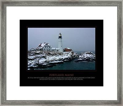 Portland Headlight Framed Print by Jim McDonald Photography