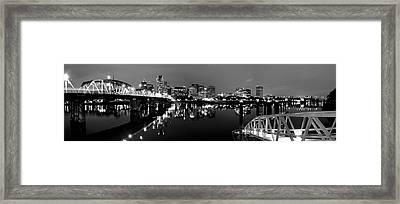 Portland In Black And White Framed Print by Brian Bonham