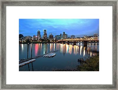 Portland Morning Framed Print