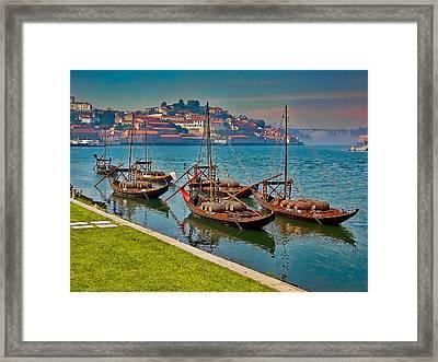 Porto Barges Framed Print by Scott Massey