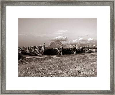 Old Port Of Trapani Framed Print