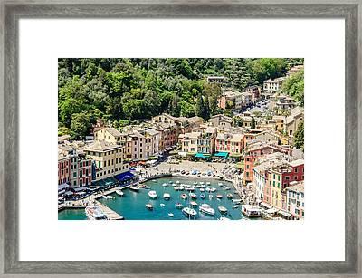 Portofino Harbor Framed Print by Alfredo J G A Borba