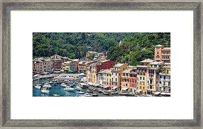 Portofino Harbor Framed Print by Corinne Rhode