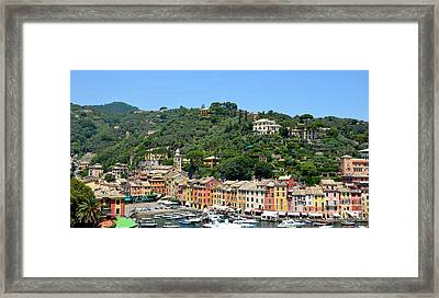 Portofino Hillside Framed Print