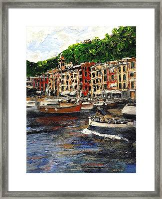 Portofino Late October Framed Print by Randy Sprout