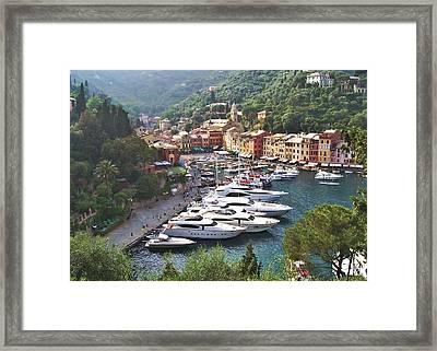 Portofino Framed Print by Marilyn Dunlap