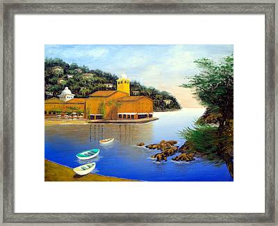Portofino Pleasures Framed Print by Larry Cirigliano