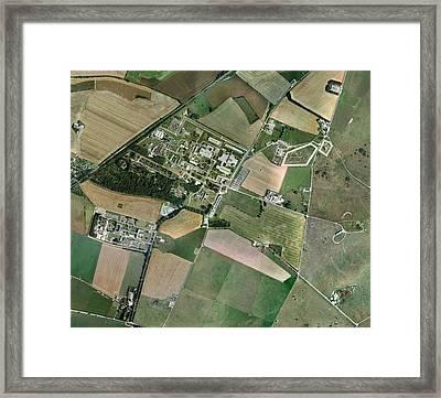 Porton Down, Aerial Photograph Framed Print
