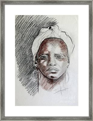 Portrait 7 Framed Print
