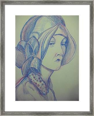 Portrait Framed Print by Aleksandra Buha