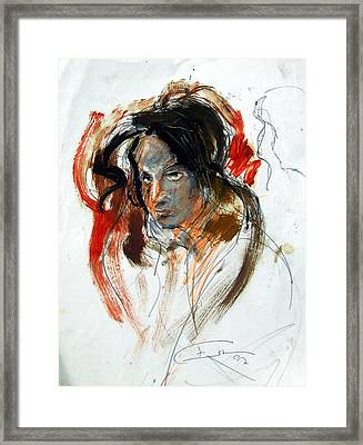 Portrait Framed Print by Ertan Aktas