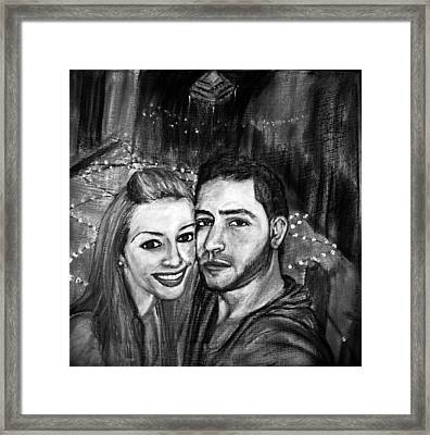 Portrait In Black And White Framed Print by Amanda Dinan