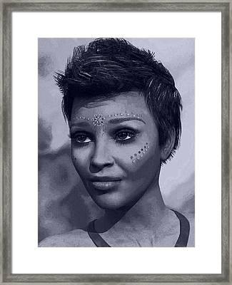 Framed Print featuring the digital art Portrait by Maynard Ellis