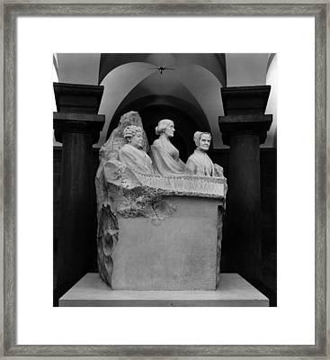 Portrait Monument To Lucretia Mott Framed Print