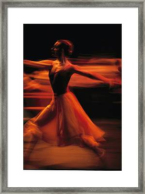 Portrait Of A Ballet Dancer Bathed Framed Print by Michael Nichols