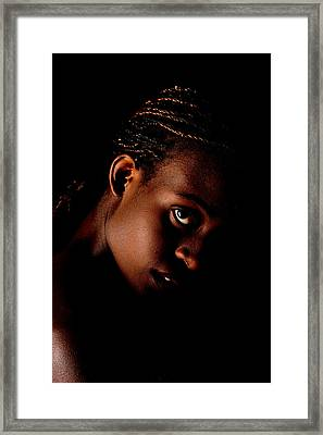 Portrait Of A Black Woman Framed Print