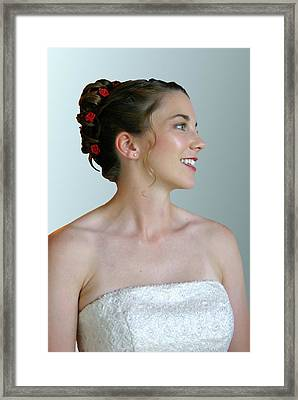 Portrait Of A Bride Framed Print