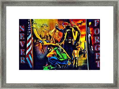 Portrait Of A Heroes Billboard Framed Print by Shannon Childress